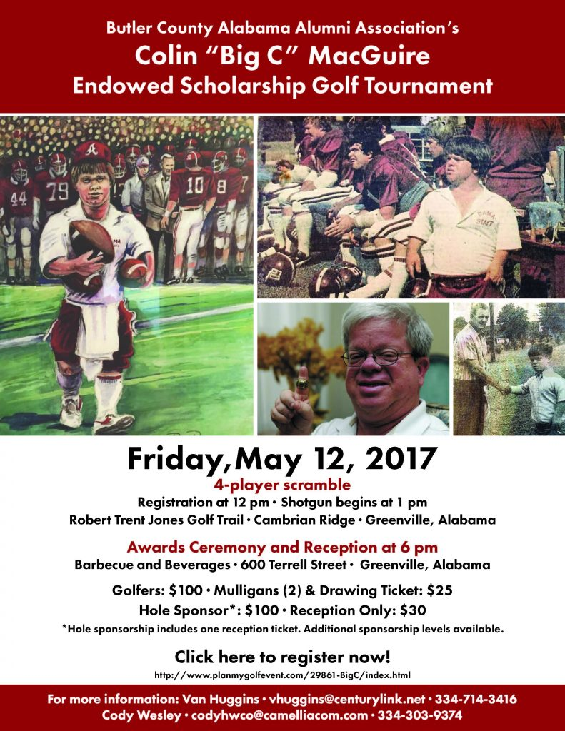 "Flyer of the Colin ""Big C. MacGuire endowed Scholarship Golf Tournament"