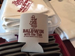 White Baldwin with the Tide cup holder.