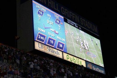 Scoreboard sign.