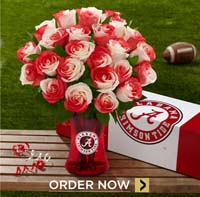 Picture of FTD Alabama Crimson Tide Rose Bouquet