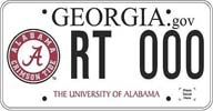 Georgia Licence Plate with circle A on left