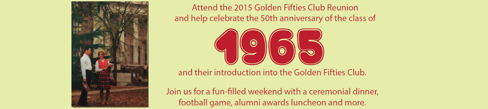 2015 Golden Fifties Club Reunion banner
