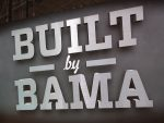 Buiilt by BAMA sign.