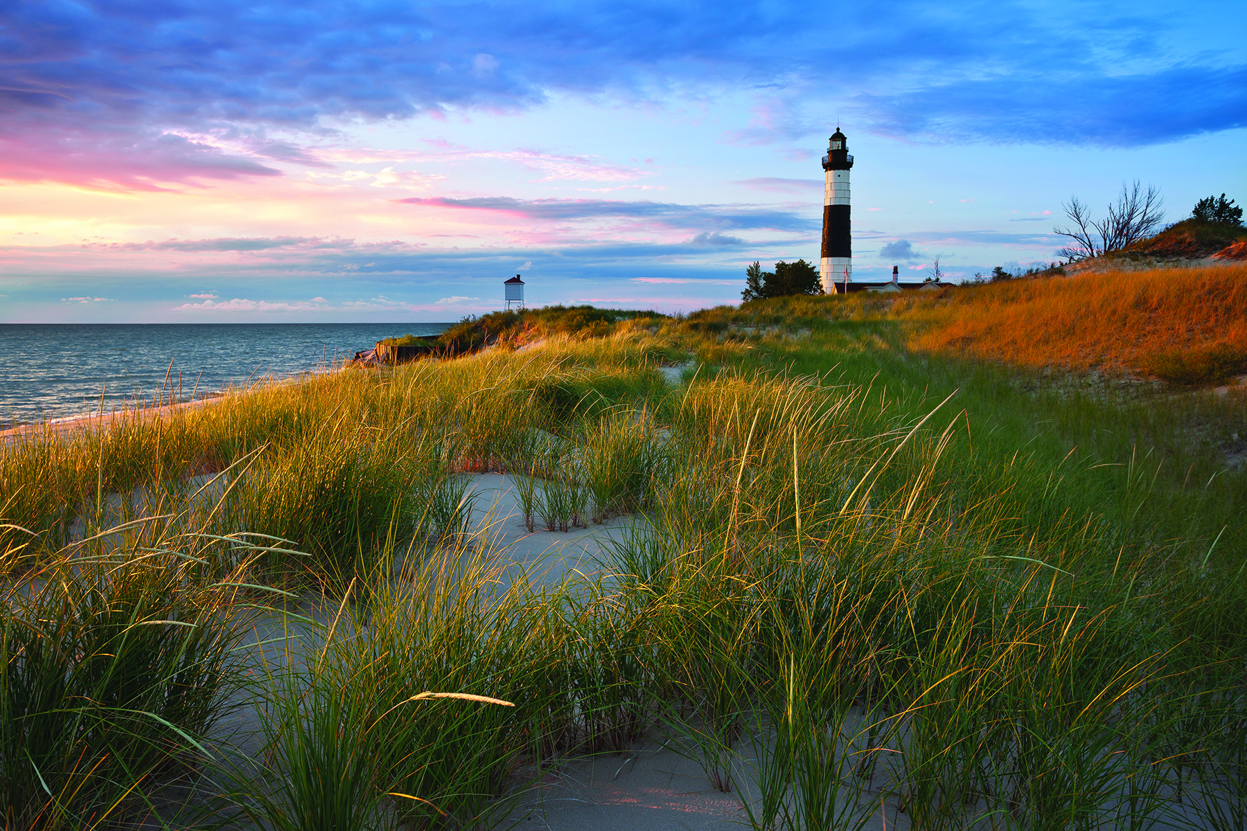 The Big Sable Point Lighthouse at sunset