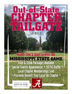 Out-of-State Chapter Tailgate print flyer