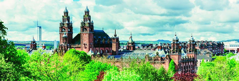 prospering vegetation overlooks and illustrious city.